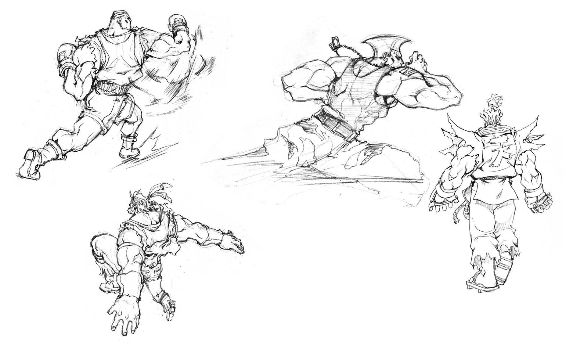 Street Fihter, Skitse, Courtesy Of Capcom