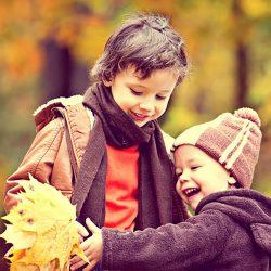 Illustration, efterår og børn