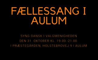 Plakat for fællessang i Aulum