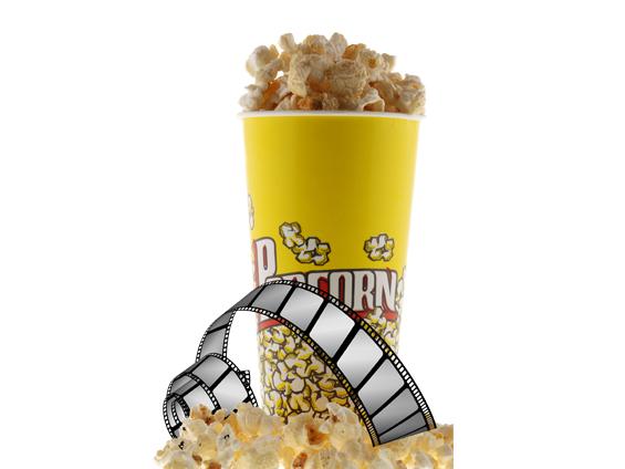 Popcorn og filmstribe