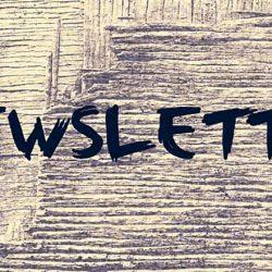 billede med teksten newsletter