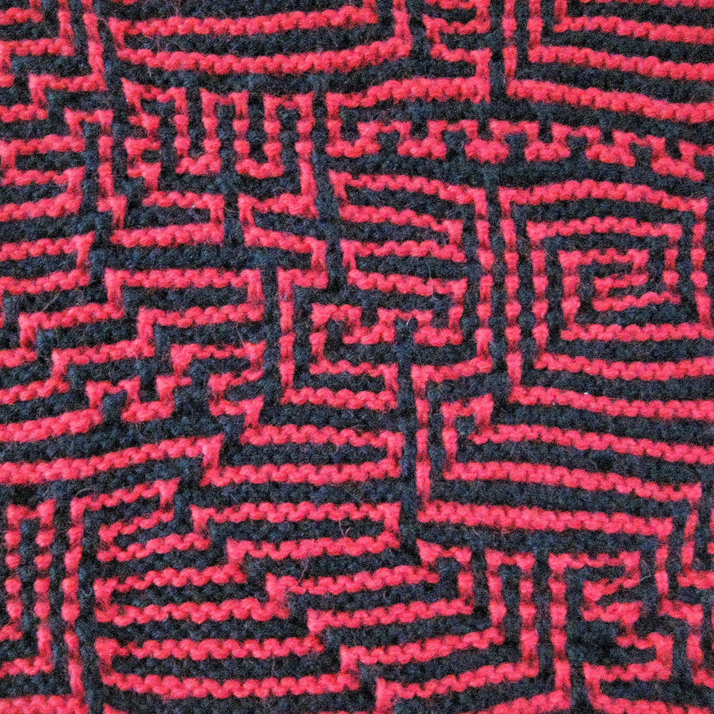 Illustration fra udstillingen Den Røde Tråd