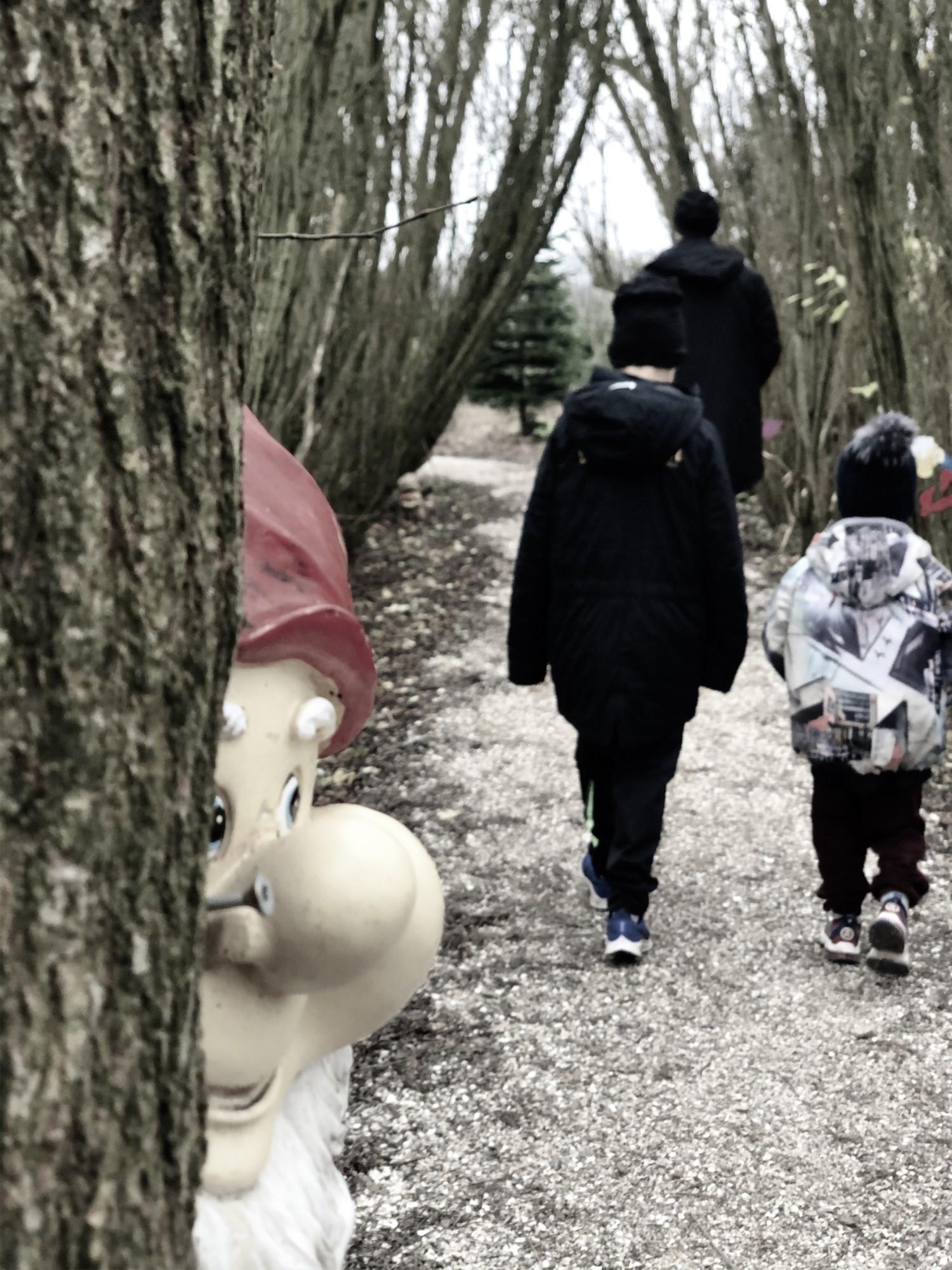 Familien Bach Bak på Øster Skovgård