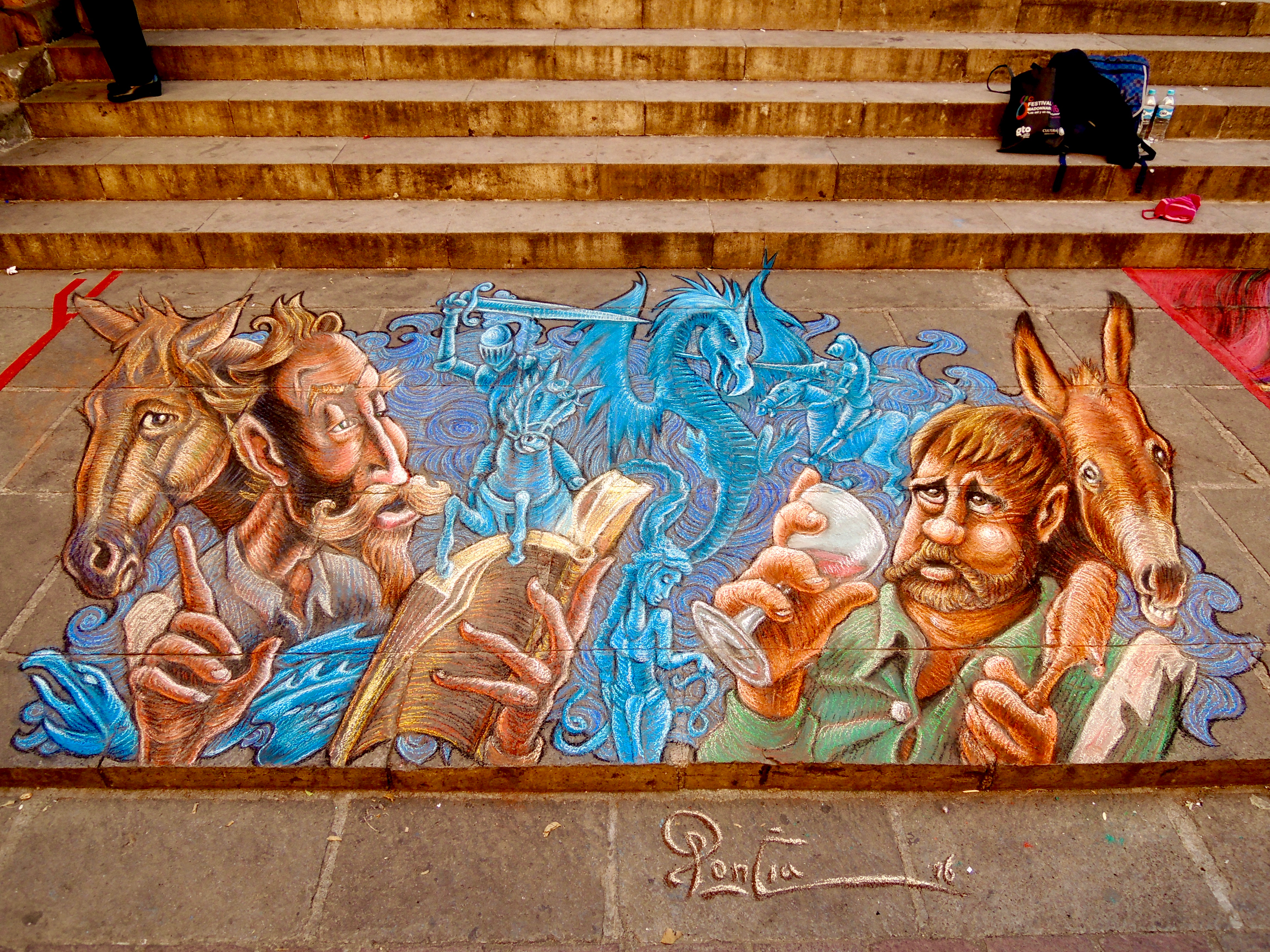 Streetartværk af Pocia