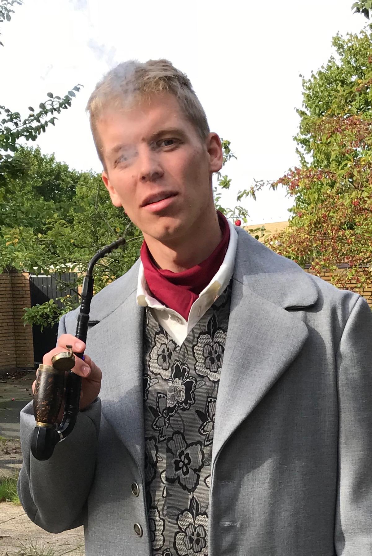 Daniel studerer på konservatoriet i Aarhus og bliver næste sommer færdig som klassisk sanger. Foto: Per Rasmussen.