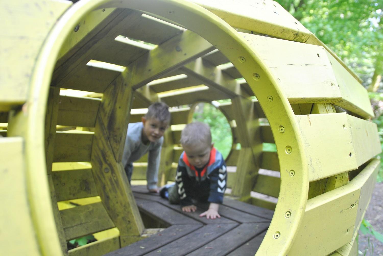 Drengene leger i Skovsnogen