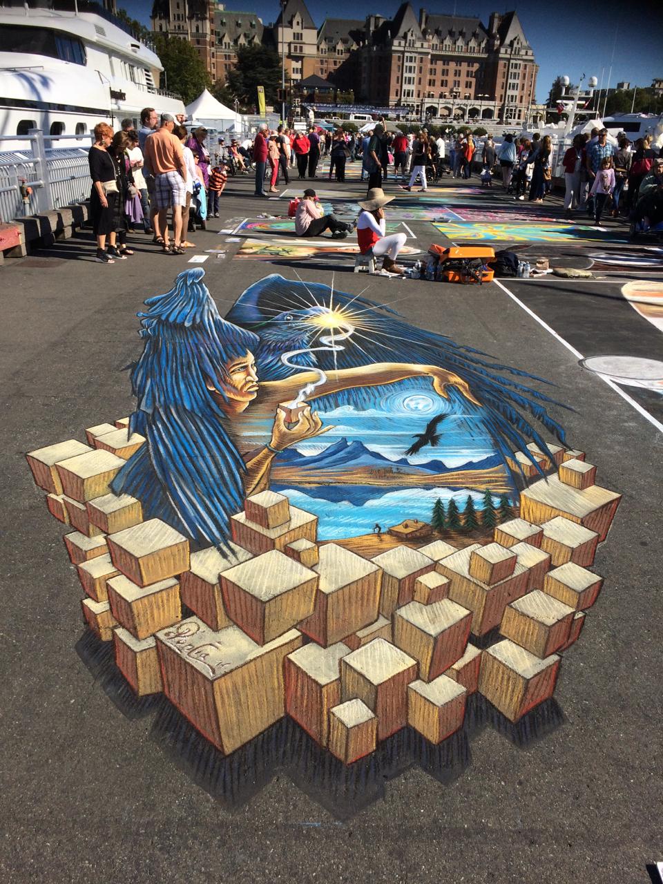 Streetart værk af Poncia