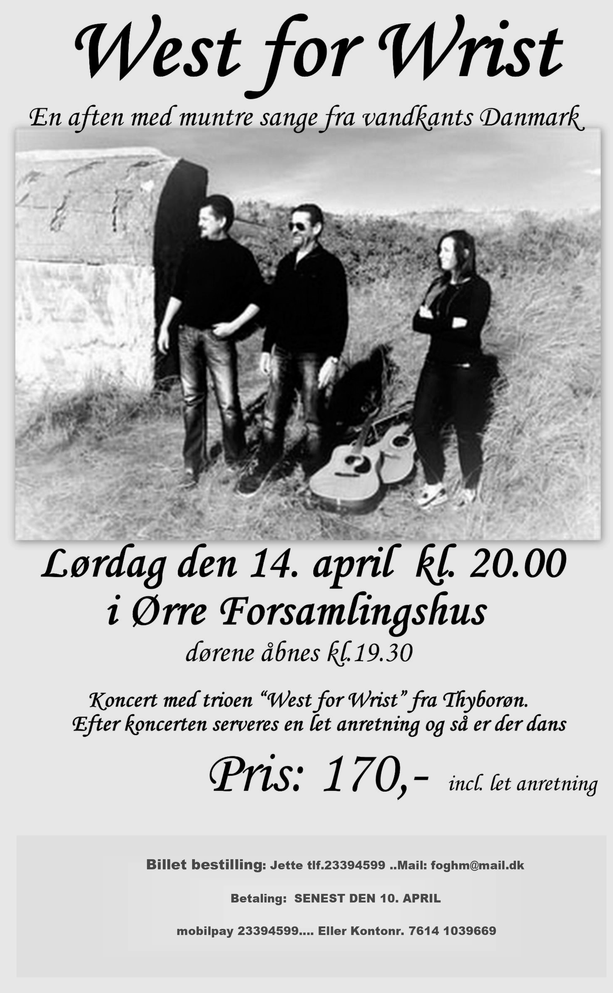 plakat for arrangement, ring til Jette på telefon 23394599 for yderligere information