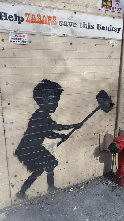 Værk af Banksy