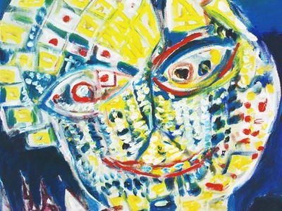 Maleri af maske, Carl Henning Pedersen