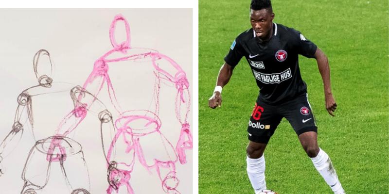 FCM spiller i bevægelse og eksempel på tegning