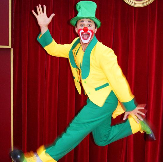 klovn fra Cirkus Mascot