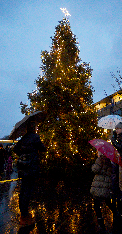 Juletræet på Torvet i Herning 2016