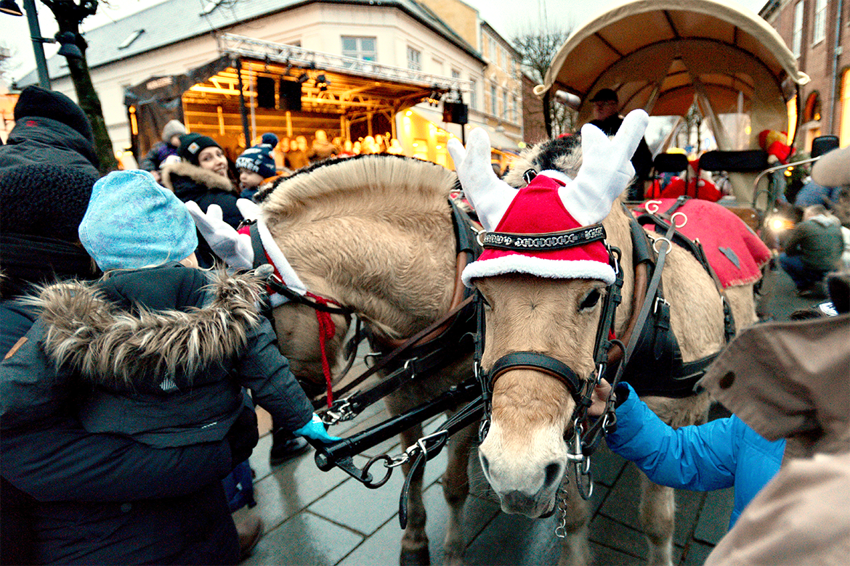 Julemandens hestevogn